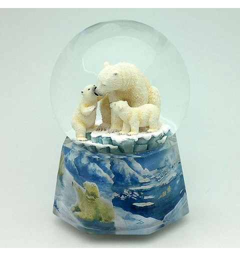 Snowball, with music and movement, recreating a family of polar bears.