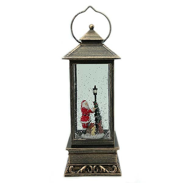 Christmas lantern with Santa Claus.
