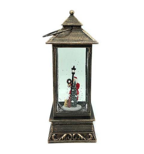 Christmas lantern with Santa Claus.