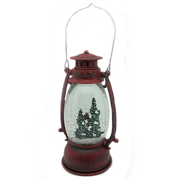 Christmas lantern, with a beautiful pair of skaters.