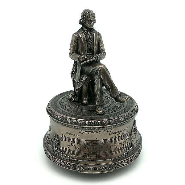 Caja de música, en la que podemos ver a Beethoven componiendo.