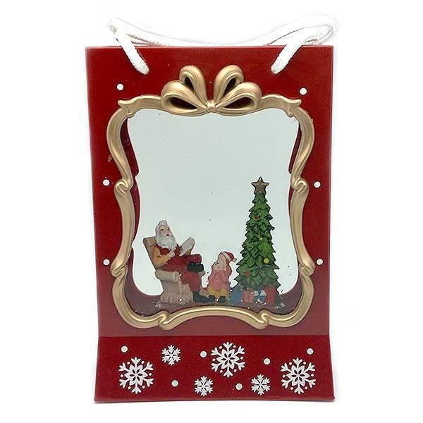 Farolillo navideño, con forma de bolsa de navidad.