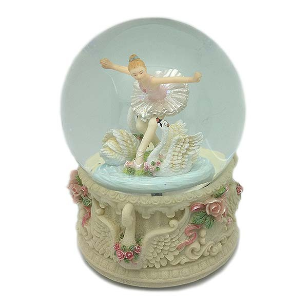 Snowball, with a beautiful ballerina next to some swans.
