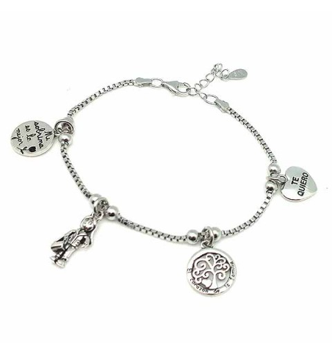Sterling silver bracelet, ideal as a gift for nieces.