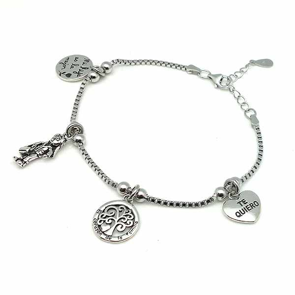 Sterling silver bracelet, ideal as a gift for a daughter.
