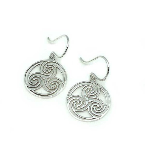 Sterling silver earrings, with the Celtic symbol, called triskelion