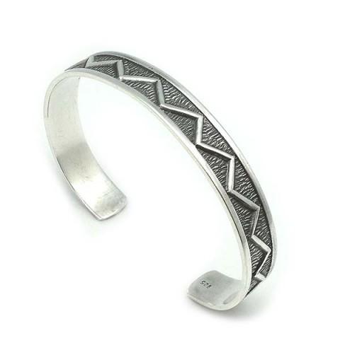 Unisex bracelet, bracelet type, in sterling silver.