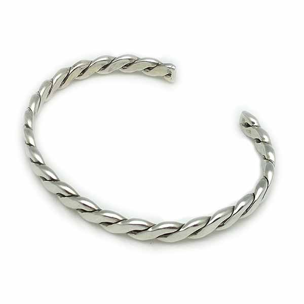 Braid-type bracelet, in sterling silver.