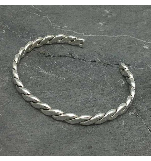 Braid-type bracelet, in sterling silver.