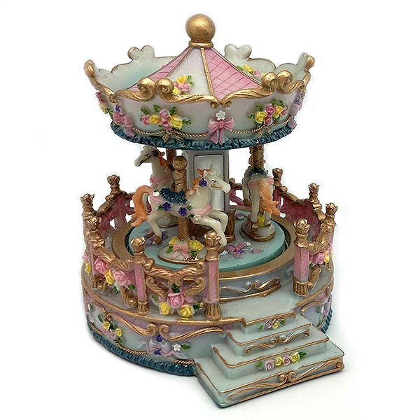 Musical carousel with balustrade.