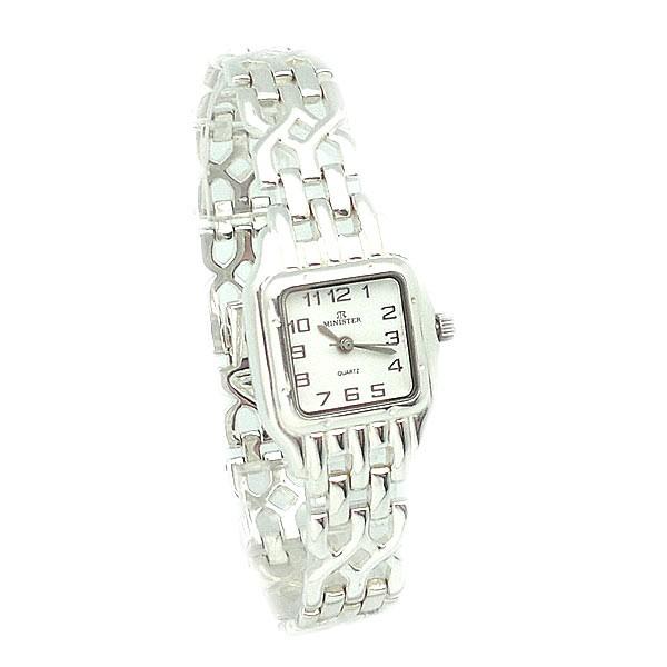 Reloj Plata de ley, tipo Cartier. Marca Minister.