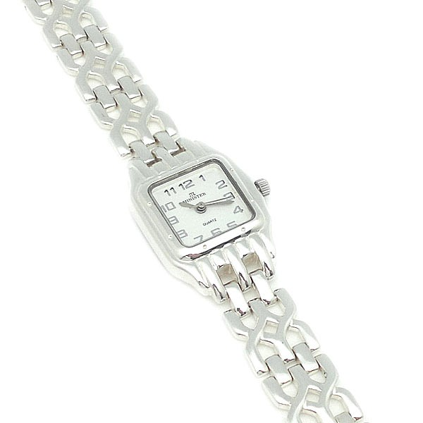 Sterling silver watch, Cartier type. Minister brand.