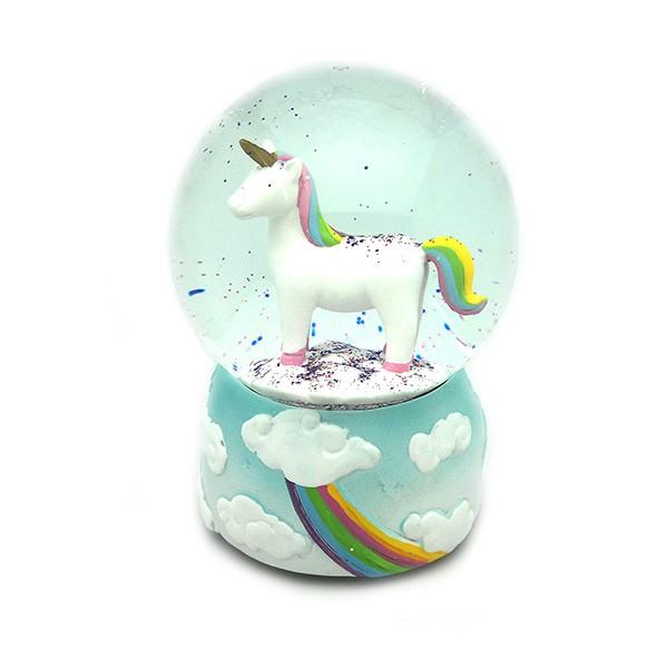 Bola de nieve con unicornio