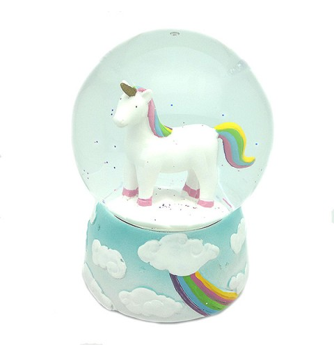 Snowball with unicorn