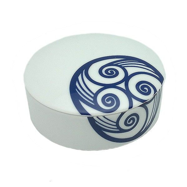 Caja porcelana trisquel