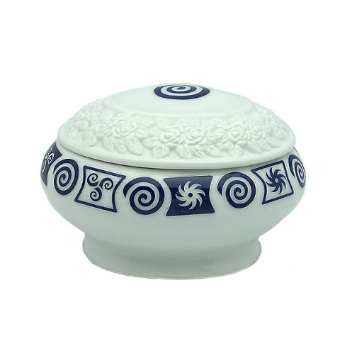 Spiral porcelain box
