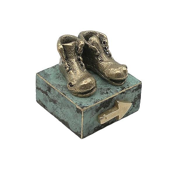 Sculpture boots way Santiago