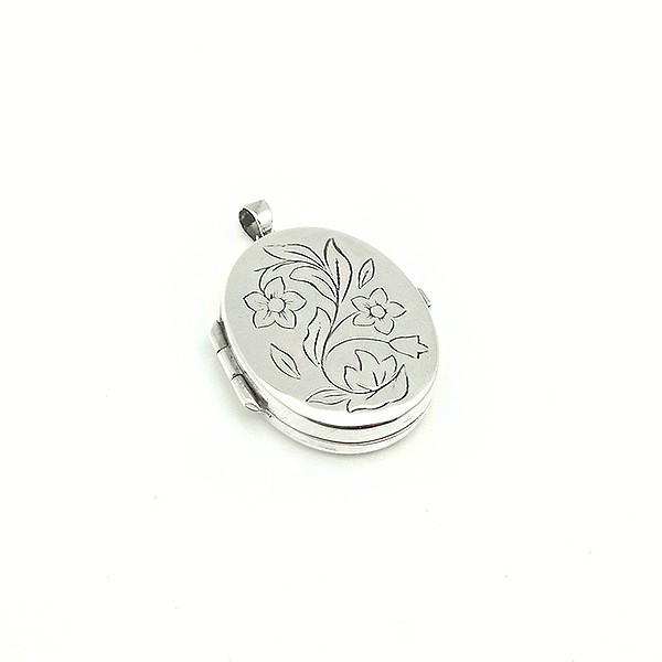 Flower photo holder pendant