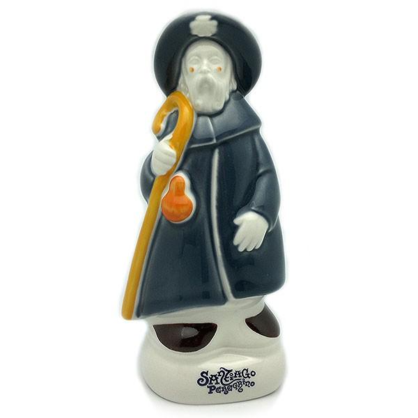 Figura de Santiago apóstol peregrino en porcelana