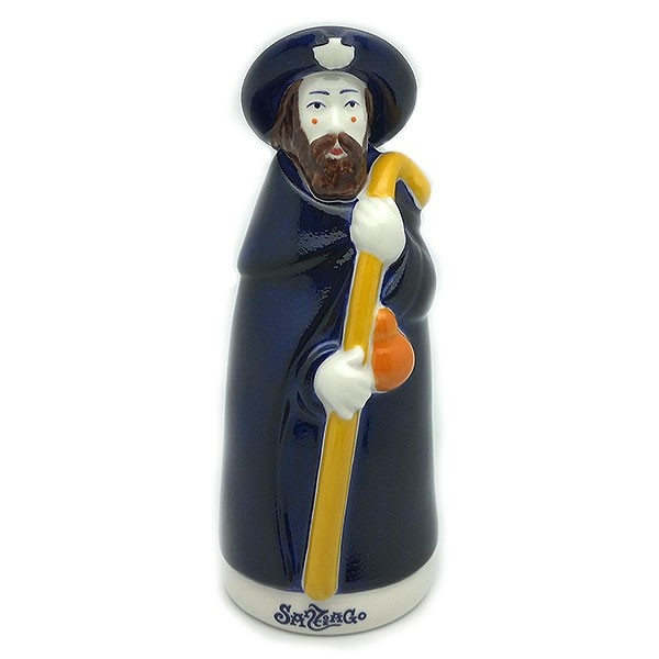 Santiago pilgrim, made by the Galos brand, in porcelain.