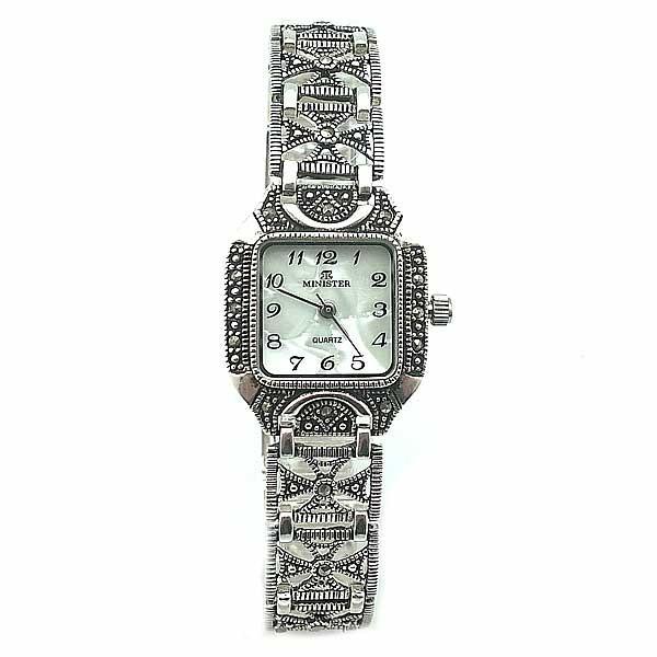 3b17358536fb Reloj plata de ley para mujer de la marca Minister.
