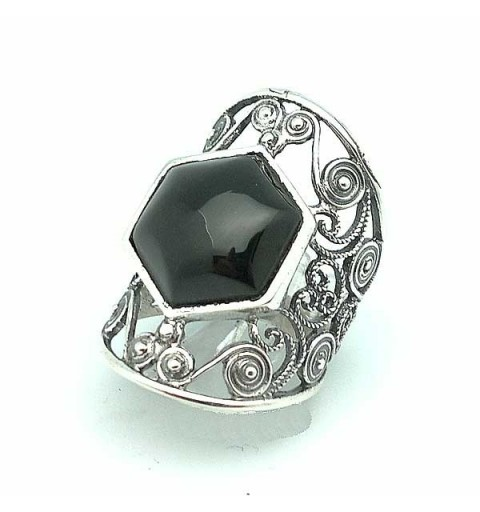 Law and Jet Silver Ring