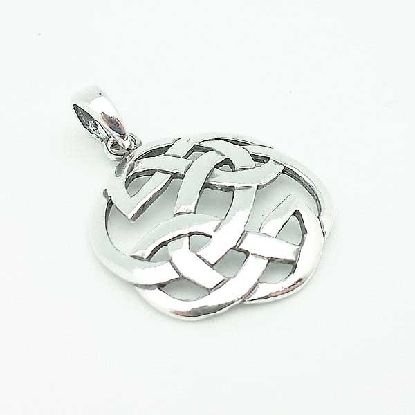 ltd celtic pendants gold yellow knot pendant rings triple