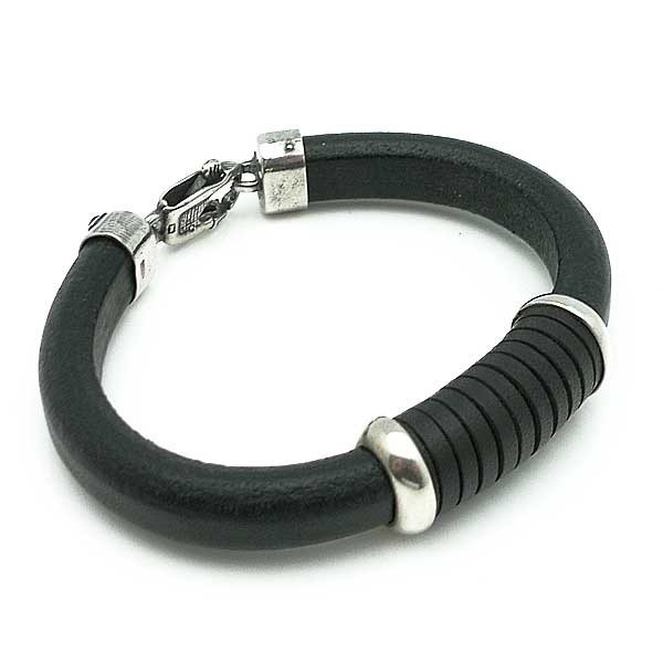 Bracelet in Sterling Silver and Leather