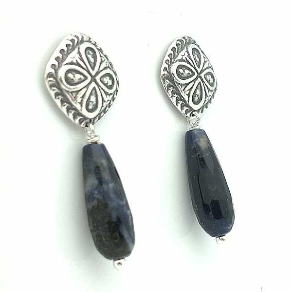 Earrings Sterling Silver and Lapis Lazuli