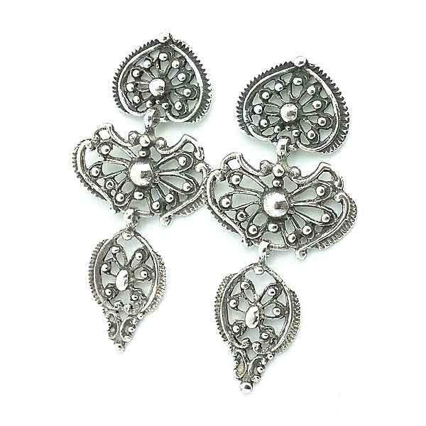 Sterling Silver Earrings Gallega