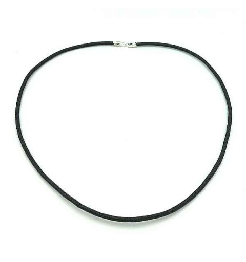 Black cord with sterling silver clasp