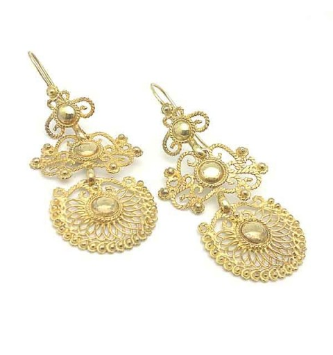 Earrings sterling silver, gold