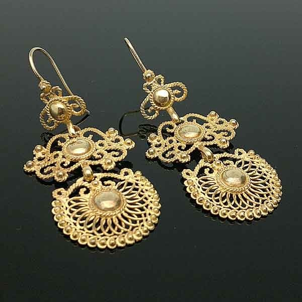 Earrings sterling silver, gold