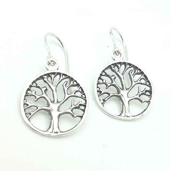 Tree of Life Earrings Silver