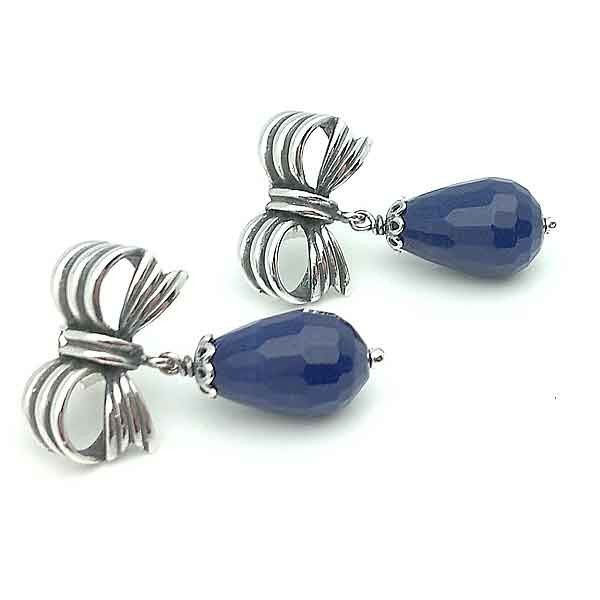 Silver loop earrings law