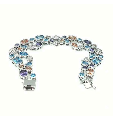 Bracelet silver and cubic zirconia