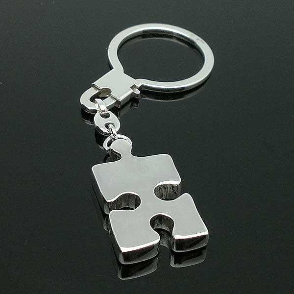 Keychain silver puzzle piece
