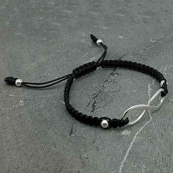 Bracelet, adjustable infinity symbol