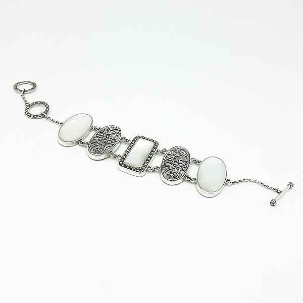 Reversible bracelet in sterling silver
