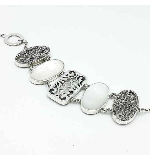 Reversible bracelet in sterling silver