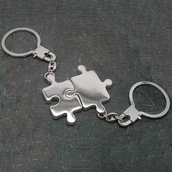 Llavero doble pieza puzzle 3D