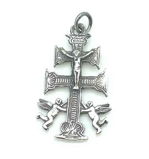 Caravaca cross pendant.