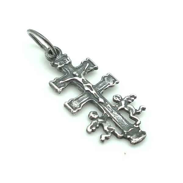 Caravaca cross pendant in sterling silver caravaca cross pendant small mozeypictures Choice Image