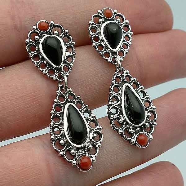 Earrings filigree silver