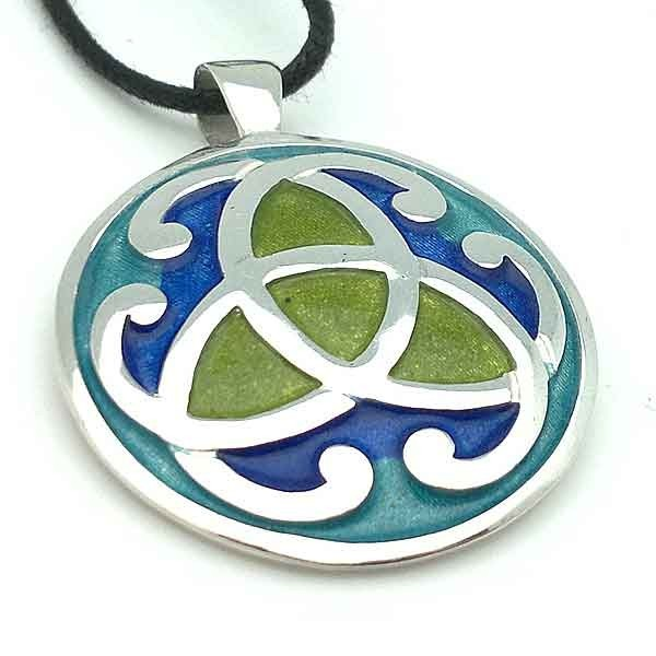 Celtic silver pendant law
