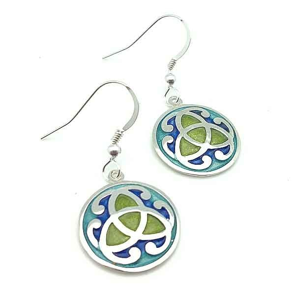 Celtic earrings in silver
