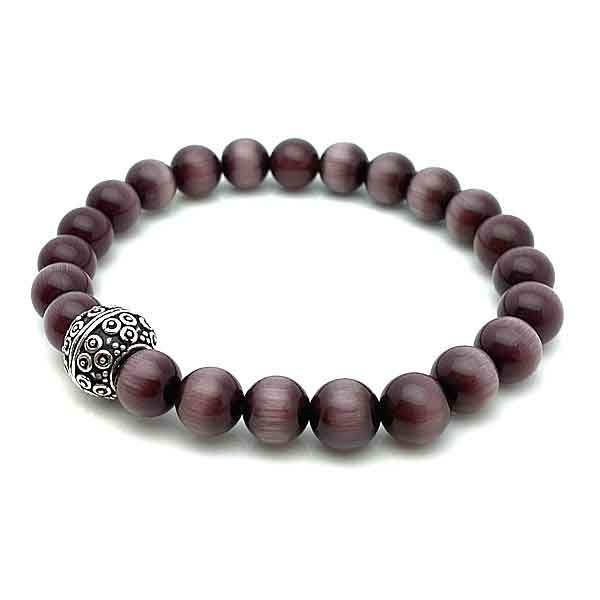 Elastic bracelet purple cat eye
