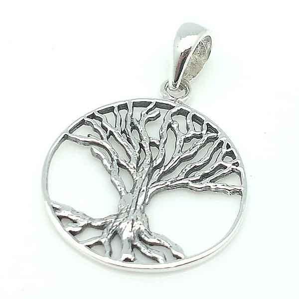 Colgante plata, árbol de la vida
