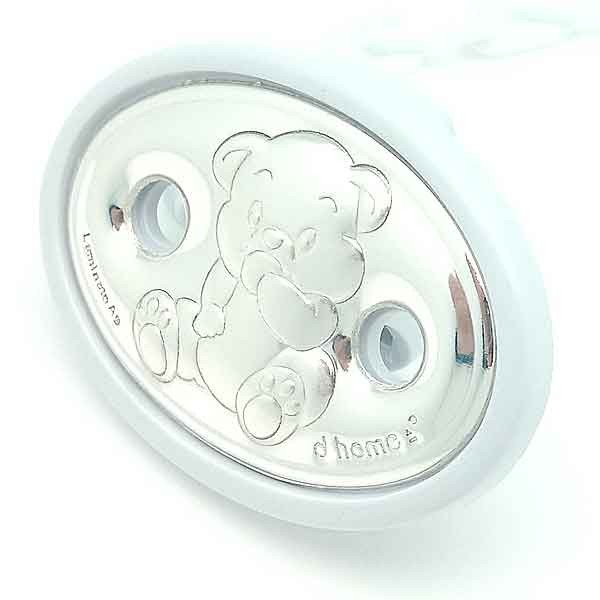 Holds pacifiers white