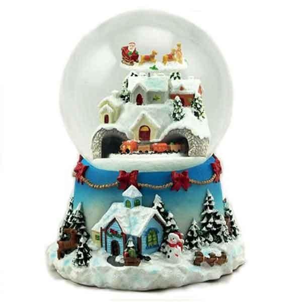 bola de nieve navide a con villancicos y movimiento. Black Bedroom Furniture Sets. Home Design Ideas